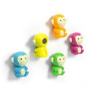 Apor i färg 5-pack - kylskåpsmagneter.