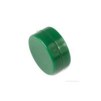 Grön whiteboardmagnet 13x6 mm av neodym med plastcoating.