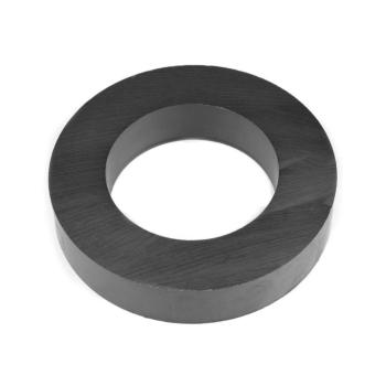 Ferritmagnet Ring 100x60x20 mm. i färgen svart.