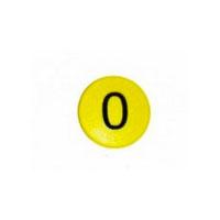Whiteboardmagnet med siffran 0.