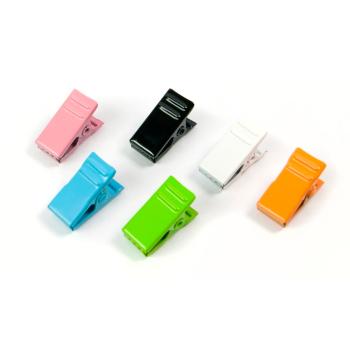 Magnetklämmor i sex fina färger!