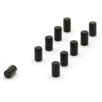 Svarta supermagneter med styrkan 0.5 kg.