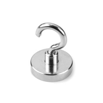 Krokmagnet 32 mm av neodymium och stålkop