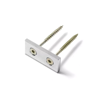40x20x4 mm magnet med metallkopp u-profil - styrka: 17 kg.