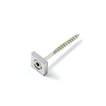 Countersunk magnet u-profil 15x15x4 mm för skruv (M3)
