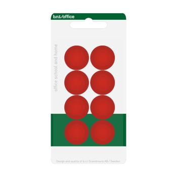 20 mm röda kontorsmagneter från BNT Scandinavia - billiga magneter för whiteboard och kylskåpet