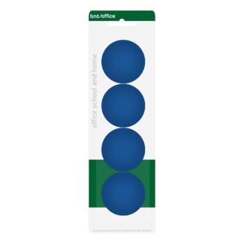 Blåa kontorsmagneter 4 cm från BNT Scandinavia - 4-pack