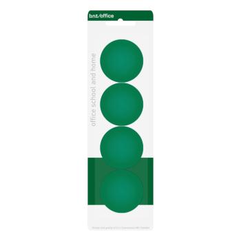 Gröna kontorsmagneter 4-pack från BNT Office, storlek 40 mm
