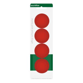 Röda BNT kontorsmagneter 4-pack