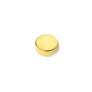 10x4 mm guld magnet av neodymium med tunn yta av guld