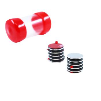 Supermagneter självhäftande 10x1 mm. 10 st