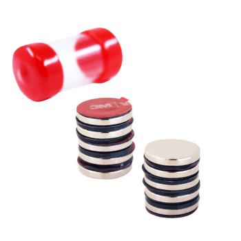 Starka magneter med 3M lim på baksidan, storlek 20x3 mm och styrka 3 kg