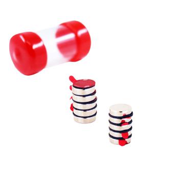 Supermagneter 10x3 mm med 3M lim 10-pack