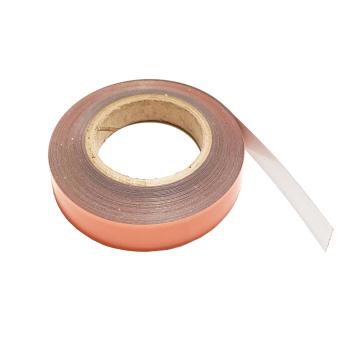 Metallband 19 mm, vit på rulle med 1 meter eller mer