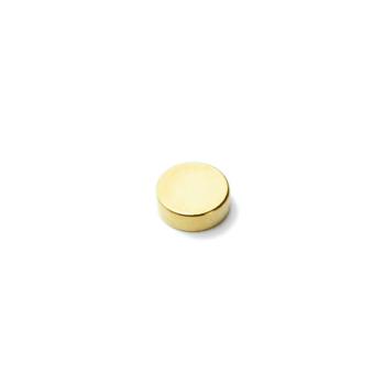 Disk magnet av neodymium, storlek 6x3 mm N45 med guld yta