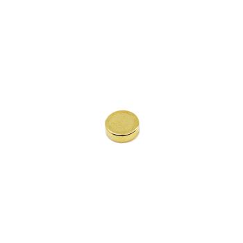 Supermagnet 5x3 mm guld N45 av neodymium - liten men stark magnet