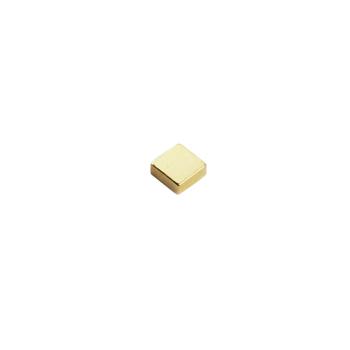 Supermagnet kub 5x5x2 mm. guld
