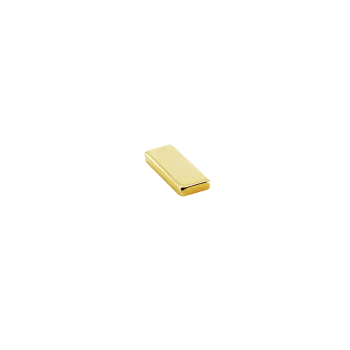 Supermagnet kub 10x4x1 mm. guld