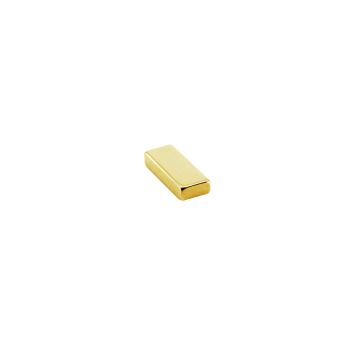 Supermagnet kub 10x4x2 mm. guld