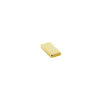 Supermagnet kub 10x5x1 mm. guld