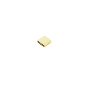 Supermagnet kub 5x5x1 mm. guld