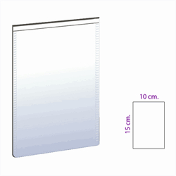 Vit magnetficka 10x15 cm.