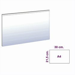 Vit magnetficka A4 liggande modell