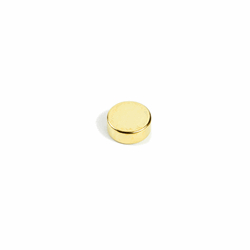 Supermagnet 8x3 mm. guld