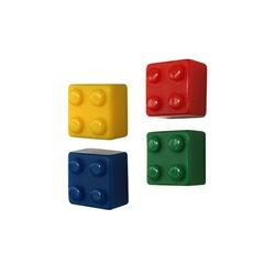 Byggklossar Brick mix Magneter 4-pack.