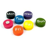 Magneter m. sju veckodagar från Club Soda Magnets
