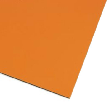 Orange färgad magnetark av magnetfolie A4