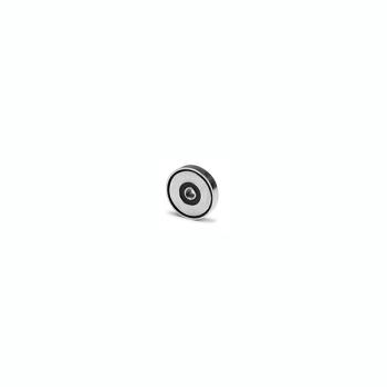 Magnet med invändig gänga M3 - diameter 10 mm. NdFeB.