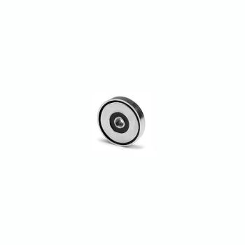 Magnet med invändig gänga M4, diameter 16 mm.
