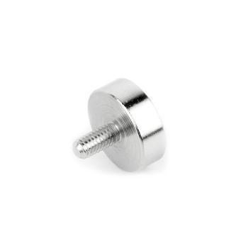 Pottmagnet ø32 mm med M6 gänga - neodymmagnet med stålpott