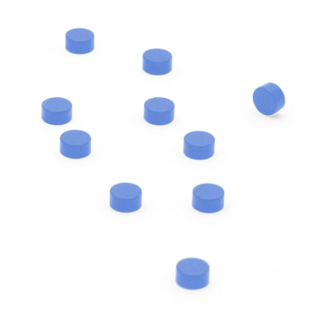 Färgade supermagneter Blå 6x3 mm.