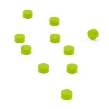 Grönna supermagneter 6x3 mm. 10-pack