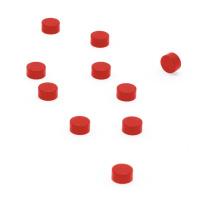 Röda supermagneter 6x3 mm. 10-pack