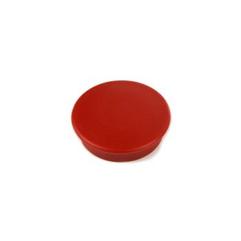 Röd kontorsmagnet rund