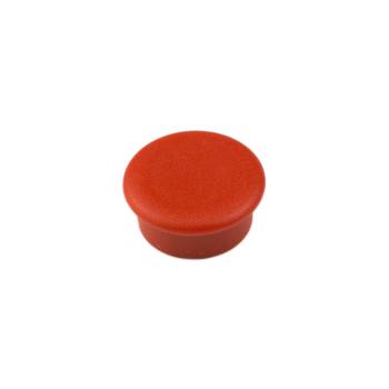 Röd kontorsmagnet rund mini
