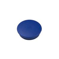 Blå whiteboardmagnet rund.