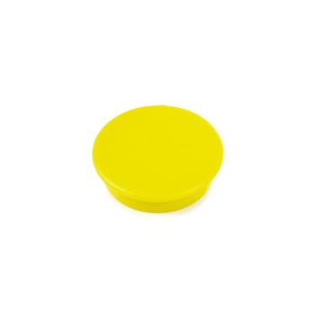 Gul kontorsmagnet rund