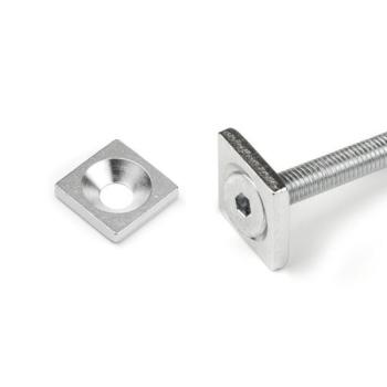 Magnetiska metallplattar 15x15x3 mm.