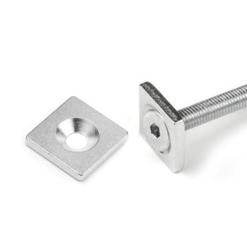 Magnetiskt metall 20x20x3 med skruv hål
