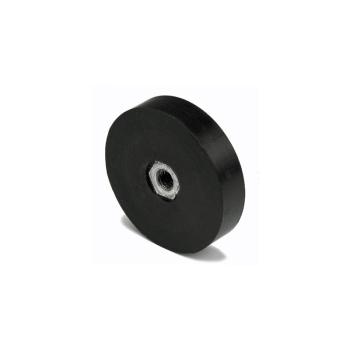45 mm. gummi magnet med M6 gänga invändig
