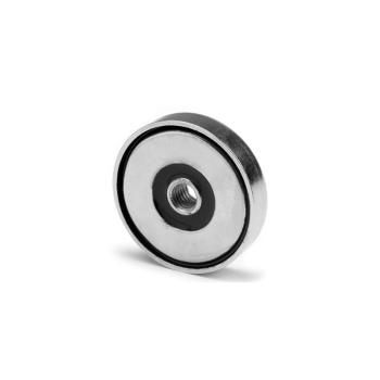 32 mm pottmagnet neodymium N38 med invändig gänga.