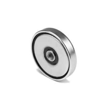 40 mm pottmagnet av neodym N38 med stålpott.