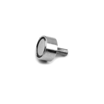 Pottmagnet 10 mm med utvändig gänga M3