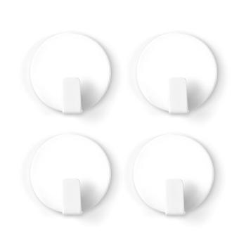 Vita magnetkrokar från Trendform i 4-pack.